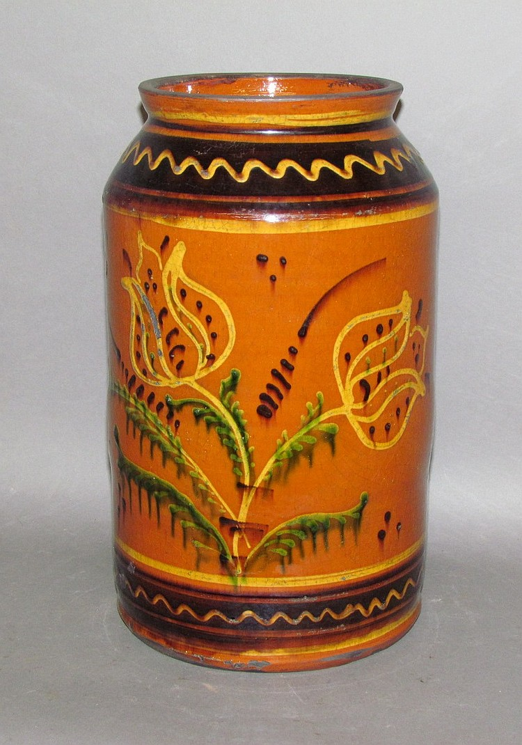 Greg Shooner Moravian style slip decorated jar