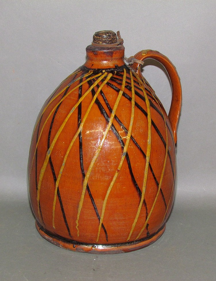 Greg Shooner redware ovoid jug