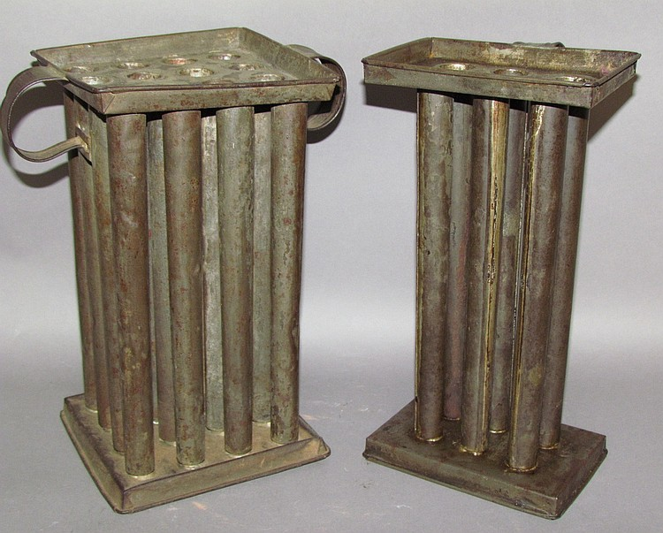 2 tin tray top candlemolds