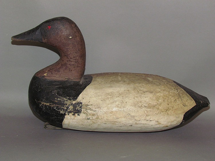 Vintage primitive Susquehanna Flats canvas back decoy