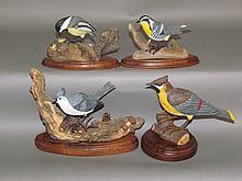Lot 38: 4 bird carvings by Charles Hornberger
