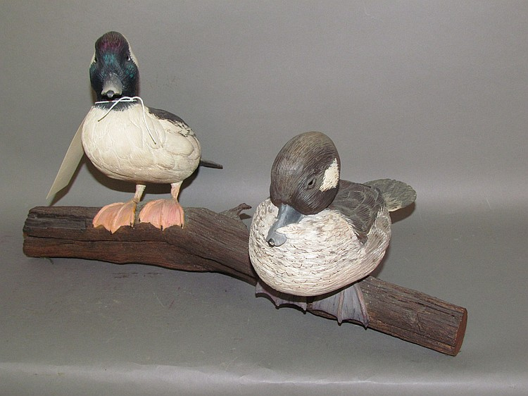 Decorative bufflehead hen & drake by Harold Buckwalter