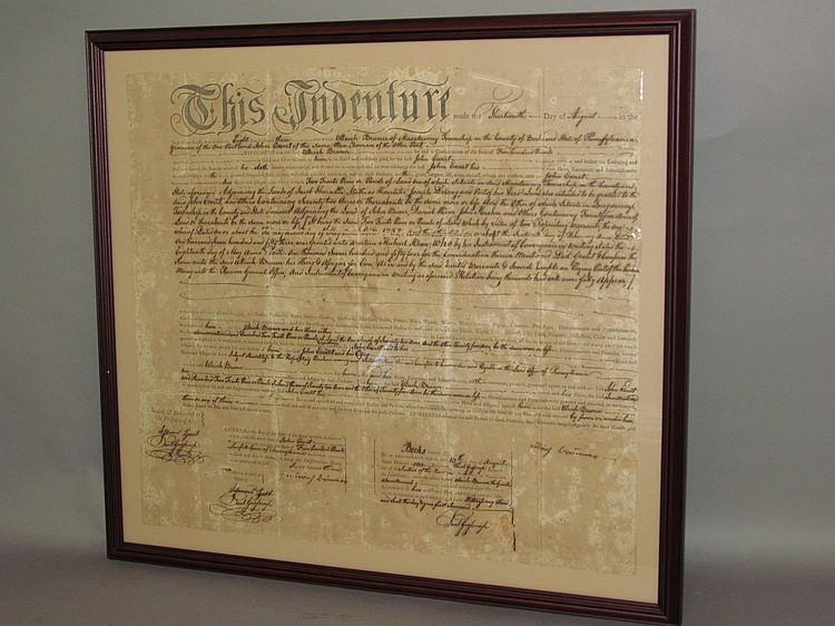 Framed Maxatawny Twp. Berks Co. indenture