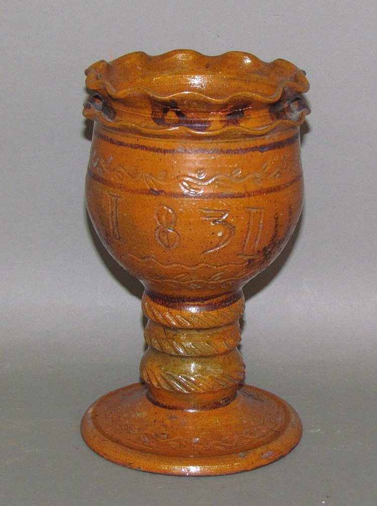 Greg Shooner Shenandoah Valley inspired redware chalice