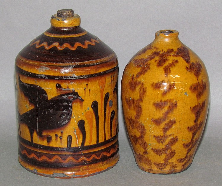 Lot 15: 2 Shooner redware jugs