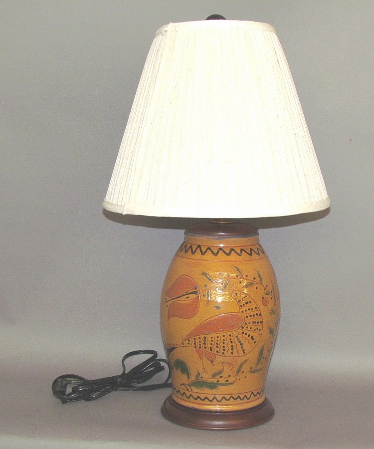 Greg Shooner sgraffito table lamp
