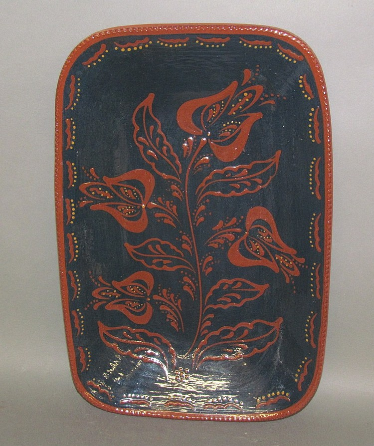 Lot 148: Foltz tulip design platter