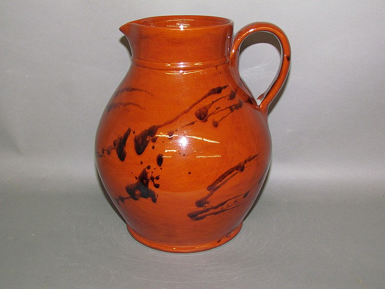 Breininger redware pitcher