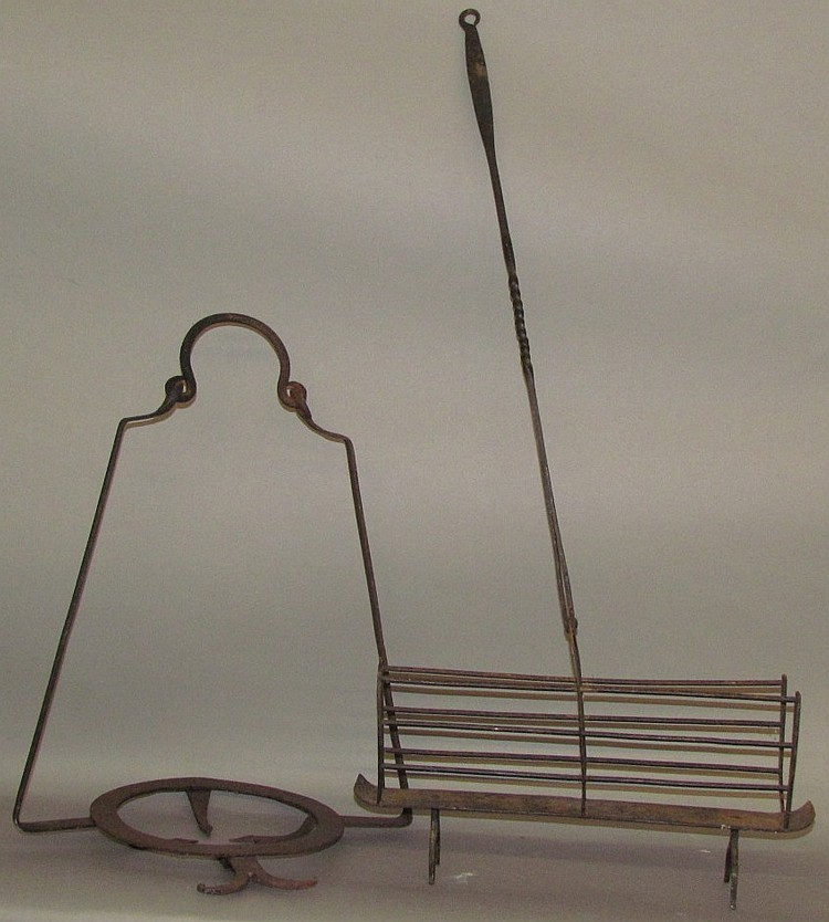 2 Wrought Iron Fireplace Tools