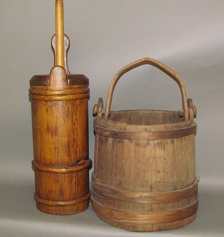 Wooden bucket & butter churn