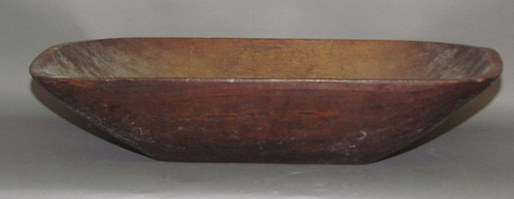 Lot 441: Hand hewn deep wooden trencher