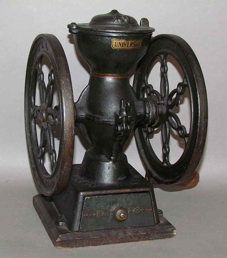 "LF&C; New Britain, Conn. ""Universal"" cast iron coffee mill"