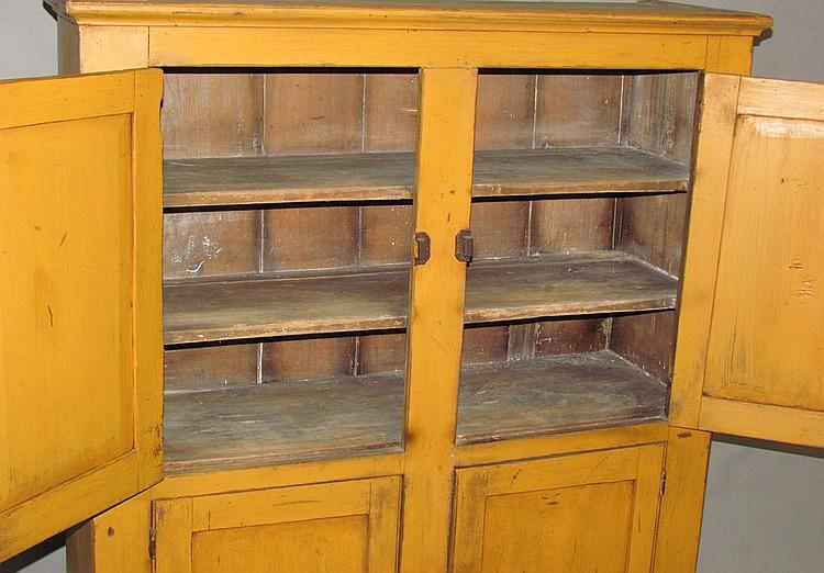 Lot 490: Four door cupboard