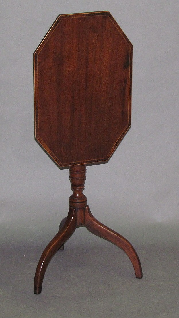 Lot 375: Tilt top candle stand