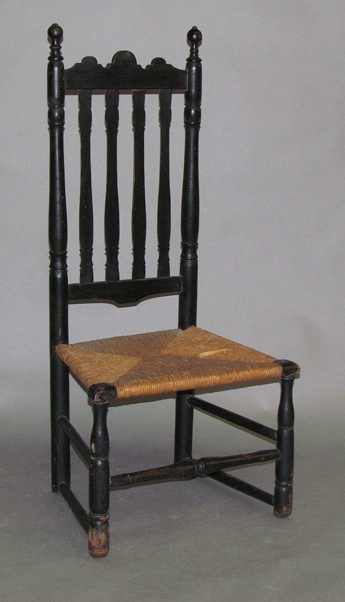 Baluster back side chair