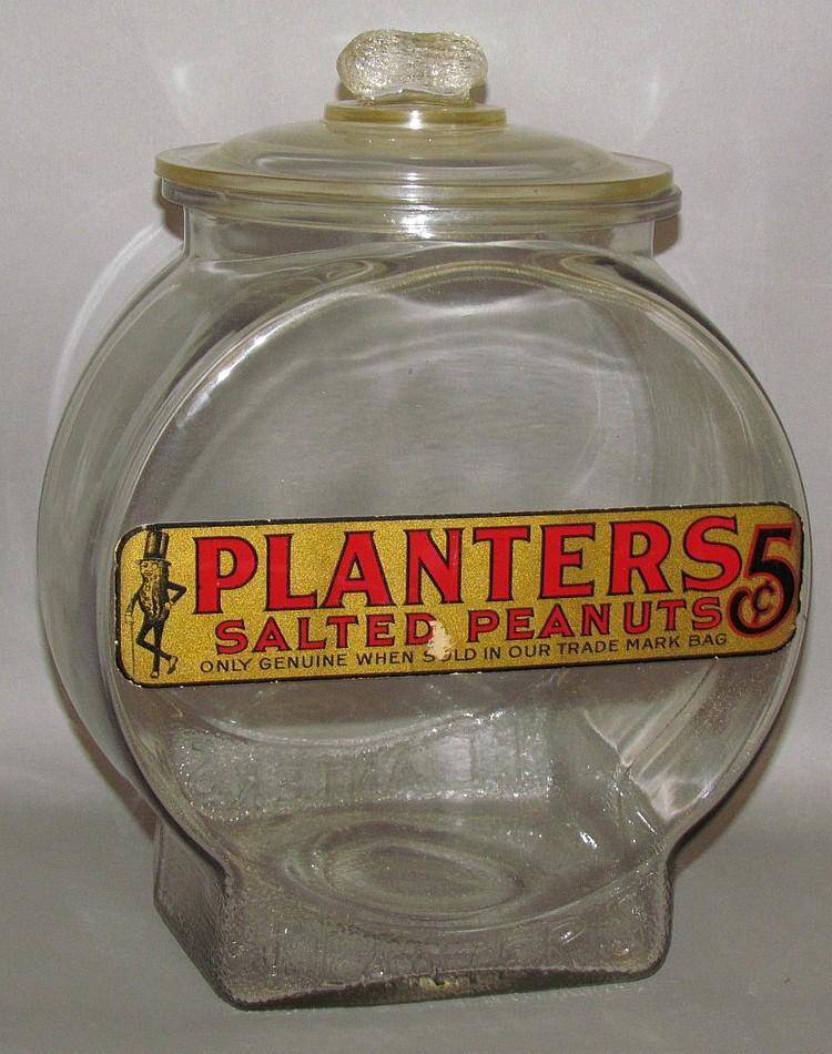 Lot 390: Planters Peanut store jar