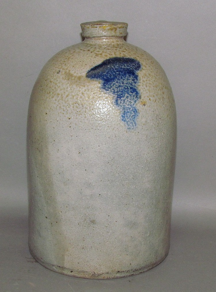 Cobalt decorated stoneware jug