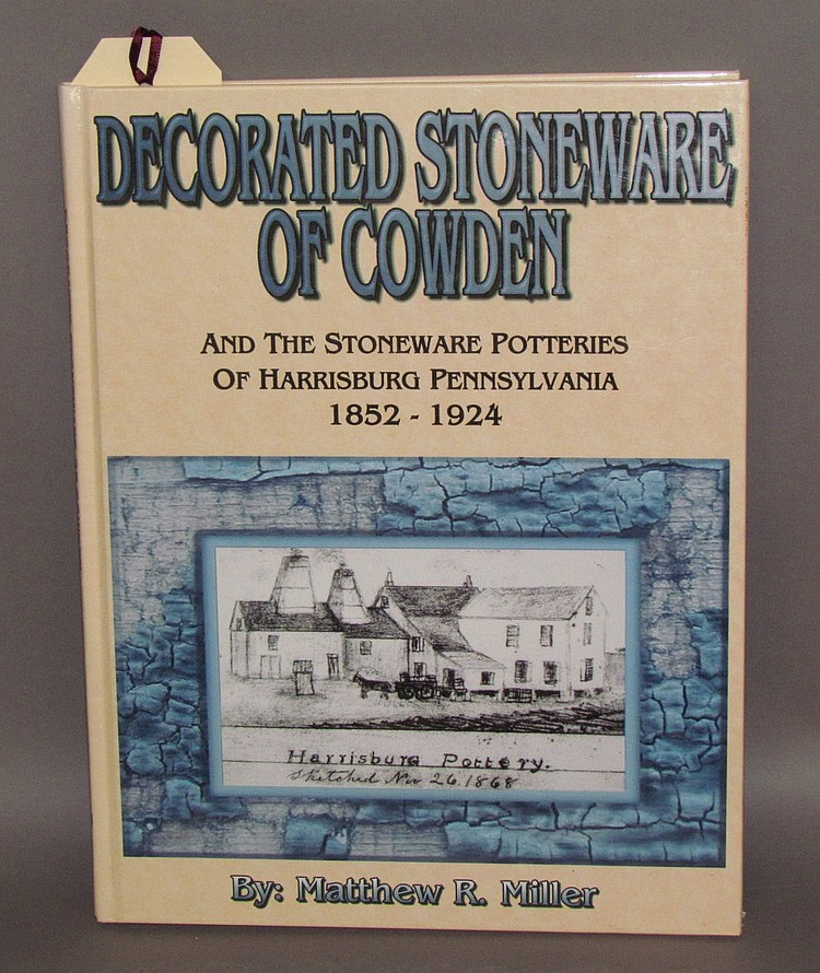 "Signed ""Decorated Stoneware of Cowden"" reference book"