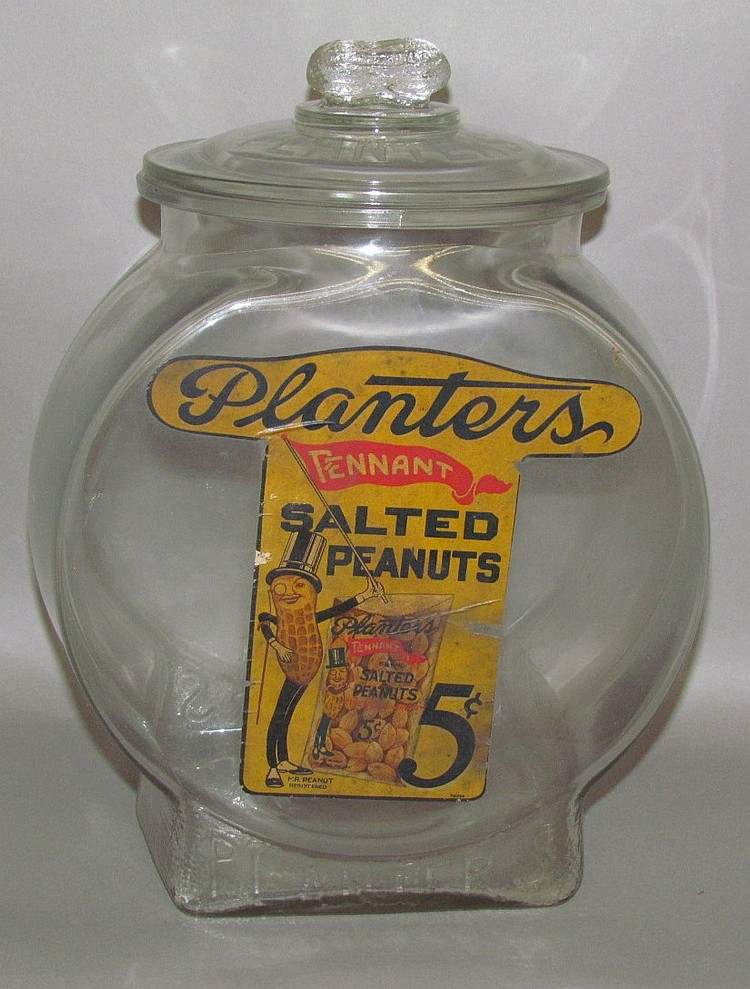 Lot 384: Planters Peanut store jar
