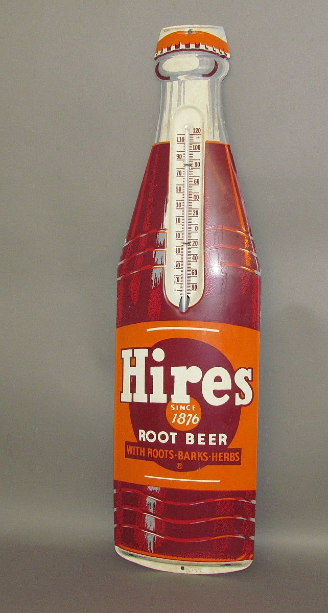 Hire bottle shaped trade sign thermometer