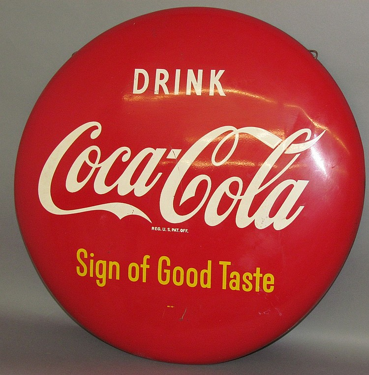 Coca-Cola button type trade sign