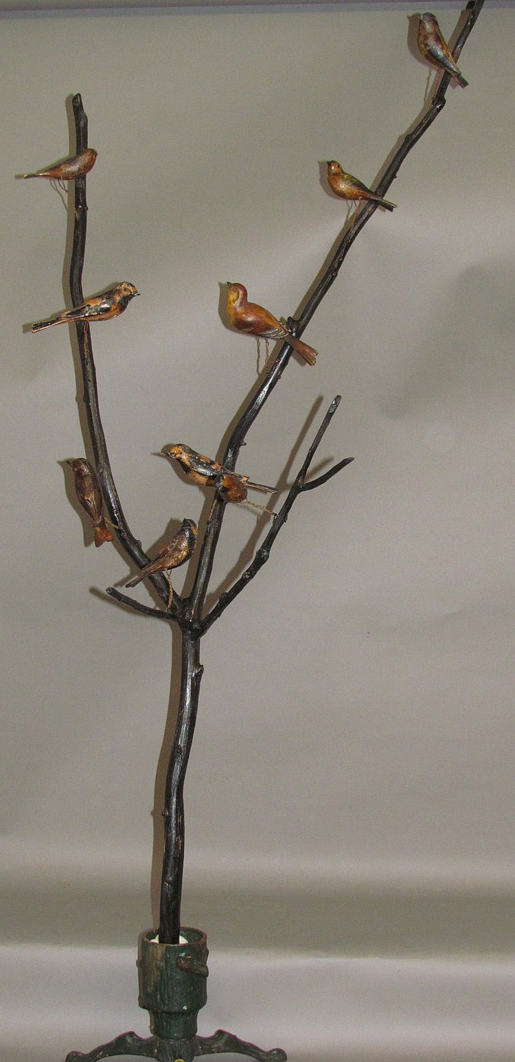 Bird tree with 9 birds