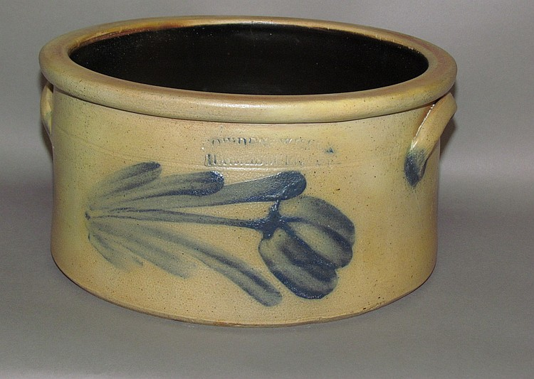 Cobalt decorated Cowden & Wilcox cake crock