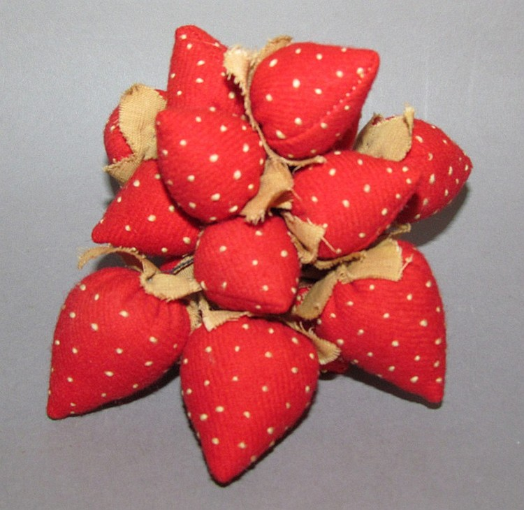 Bunch of fabric strawberries