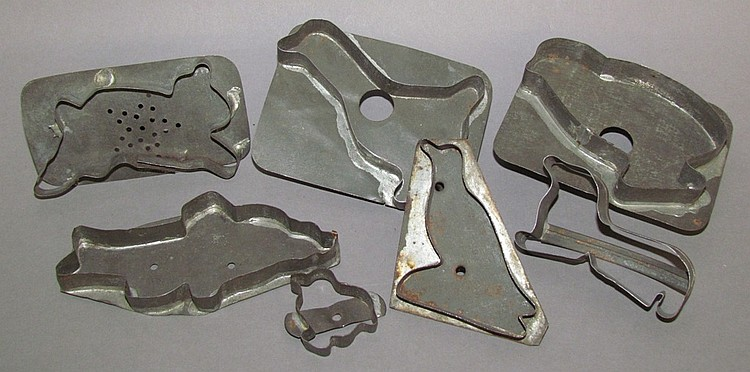 Lot of seven cookie cutters