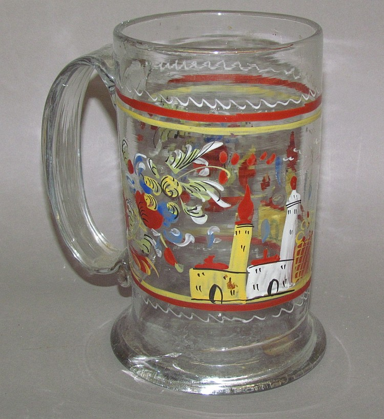 Stiegel-type painted mug