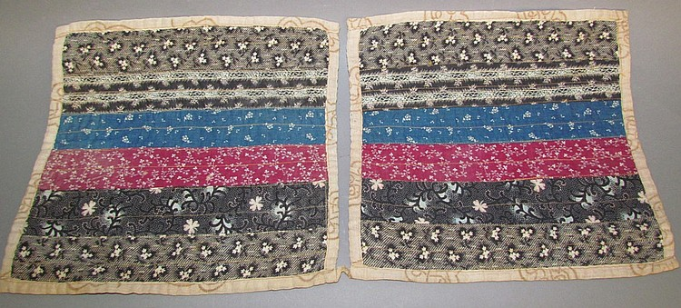 Pair of doll quilts, Mennonite