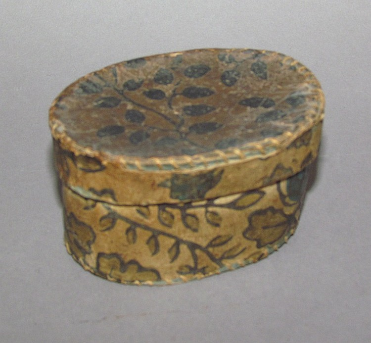 Small, oval paper box, owned by Abraham Stoner (1858-1907)