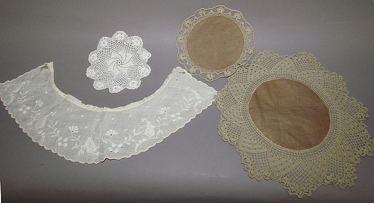4 pieces crochet/tatting