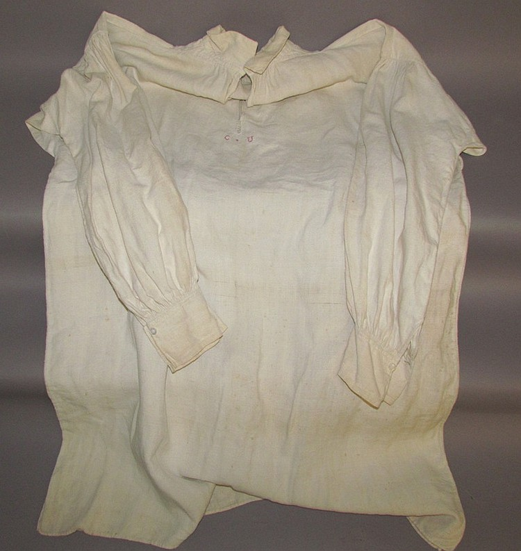 Large homespun linen man's shirt