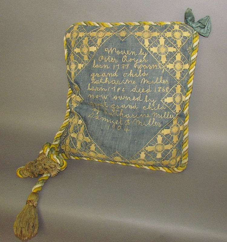 1904 Pillow with embroidered decoration