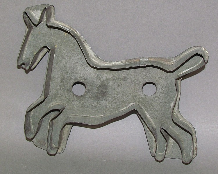 Tin horse cookie cutter