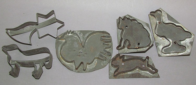 Lot of 6 cookie cutters