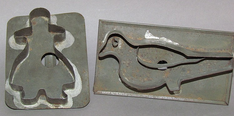 (2) Tin cookie cutters