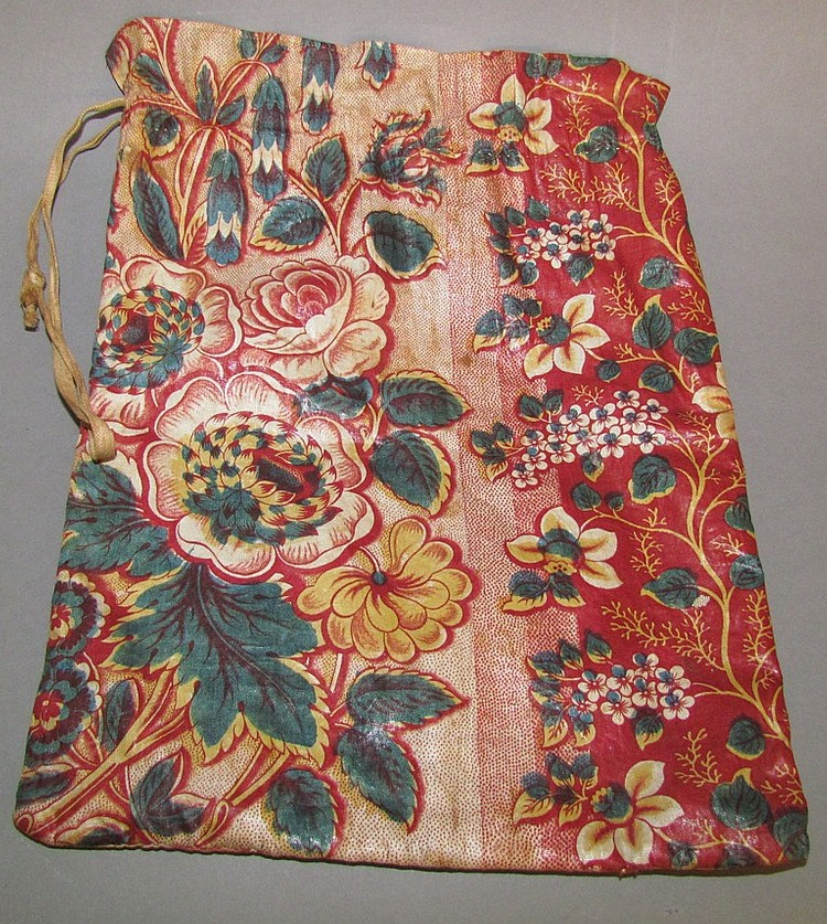 Glazed Chintz Drawstring Bag