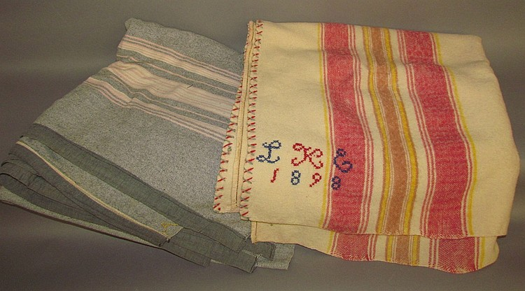 (2) Mill-made woolen blankets