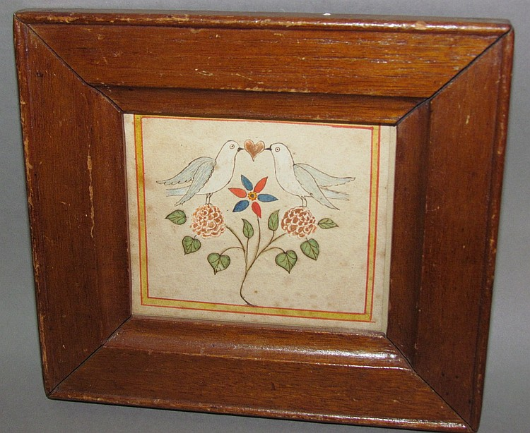 Fraktur bird drawing