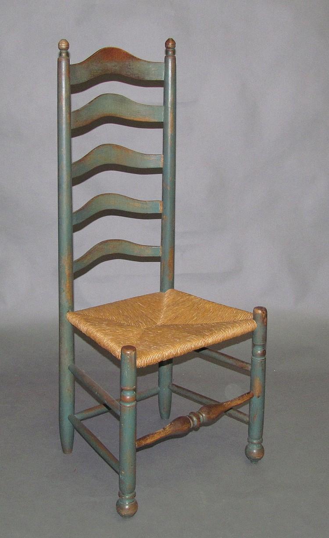 Delaware Valley ladder back side chair