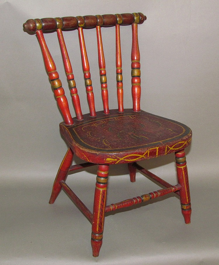 Miniature Paint Decorated Chair