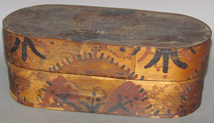 Decorated Wooden Band Box