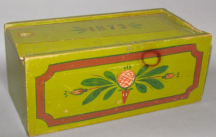 Decorated Lehn slide box