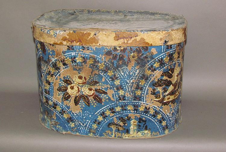 Wallpaper hat box