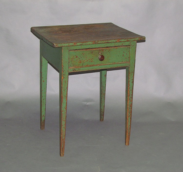 Lancaster County tapered one leg drawer stand