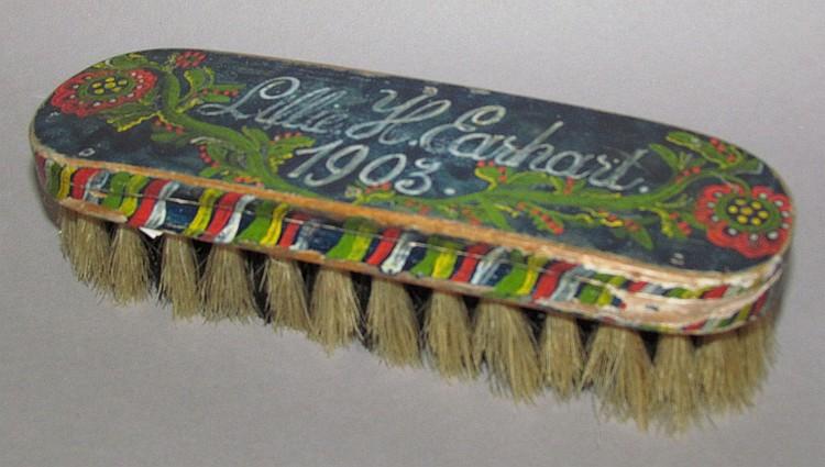 Paint decorated brush