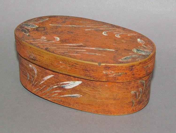 Oval Bent Wood Box