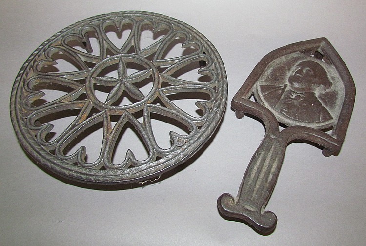 2 Cast Iron Trivets
